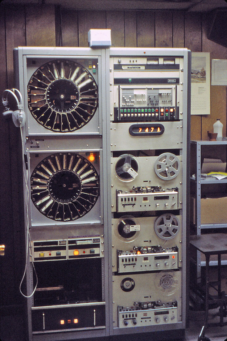 "professional reel tape recorders provided by William ""Bill"" Schoenborn"