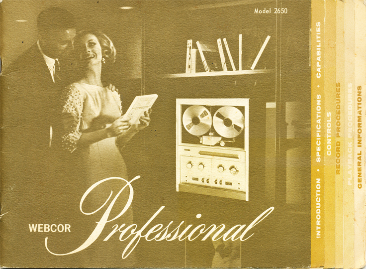 Webcor Professional  Manual in the Reel2ReelTexas.com vintage reel tape recorder recording collection