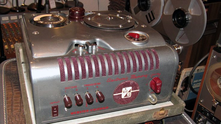 Webster Chicago 18-1R wire recorder donated by Johnny and Lena Pate