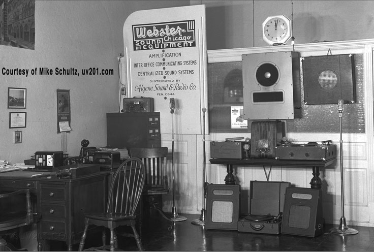Webster  Chicago sales shop courtesy of Mike Schultz in the Reel2ReelTexas.com vintage recording collection