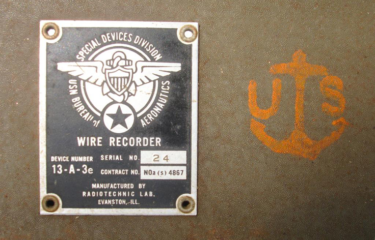 Wire Recorders - Museum of Magnetic Sound Recording