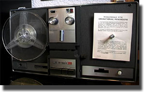 Wollensak 5780 reel tape recorder in the Reel2ReelTexas.com vintage recording collection