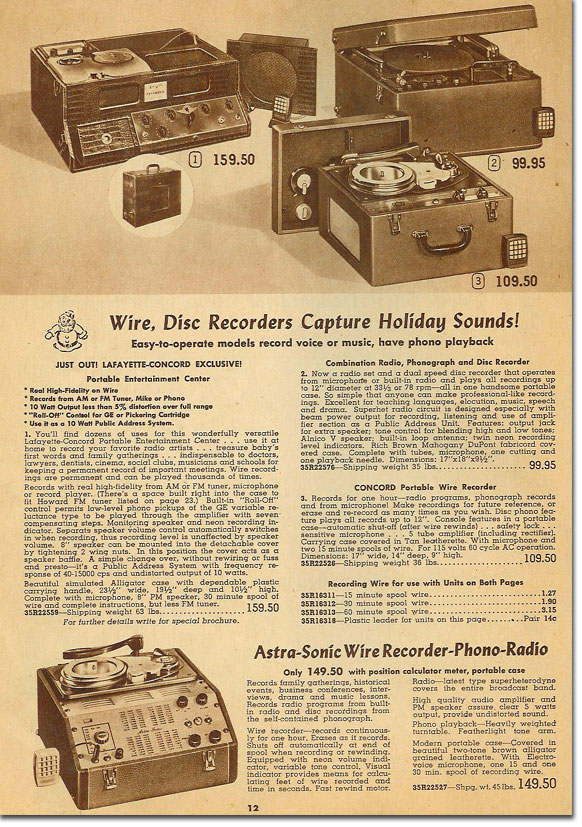wire recorders - museum of magnetic sound recording, Attraktive mobel