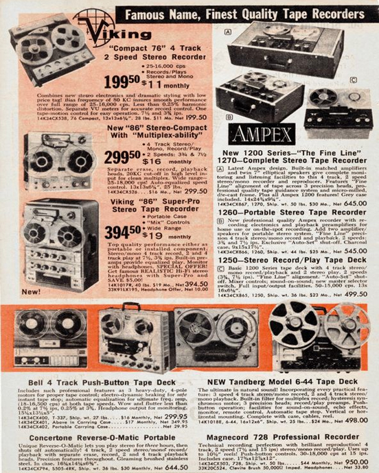 1963 ad for the Magnecord reel to reel tape recorder in the Reel2ReelTexas.com MOMSR vintage recording collection
