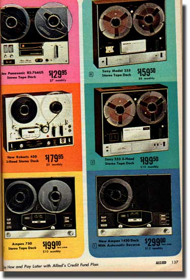 1969 catalog  ad for Roberts Recorder reel to reel tape recorders in the Reel2ReelTexas.com & Museum of Magnetic Sound Recording vintage recording collection