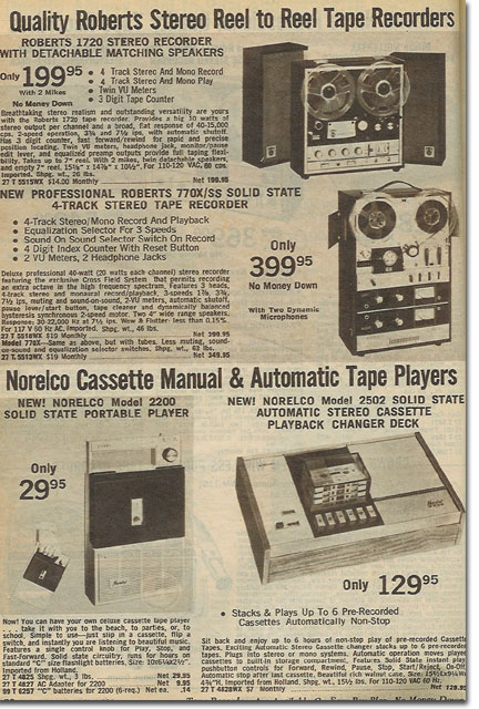 1969 ad for the Roberts 650XD Reel to Reel Tape Recorder
