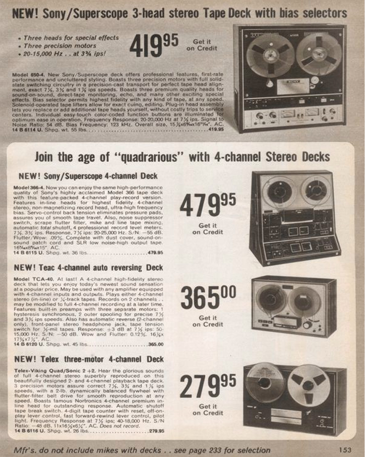 1970 ad for the Magnecord/Telex Lab Series 2001 professional reel to reel tape recorder in the Reel2ReelTexas.com MOMSR vintage recording collection