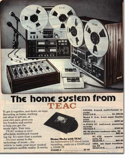 1976 Teac open reel tape recorder  ads in the Reel2ReelTexas.com vintage recording collection