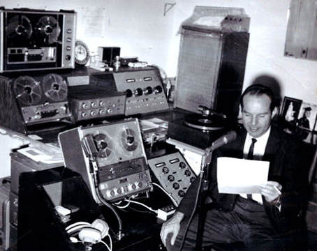 Highland Sound Company studio, Alpine, Texas  in 1965
