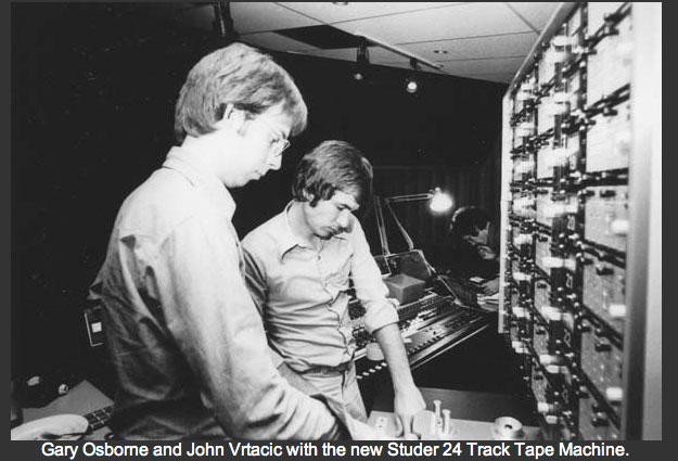1978 Installation of British Columbia's first 24 track recorder.