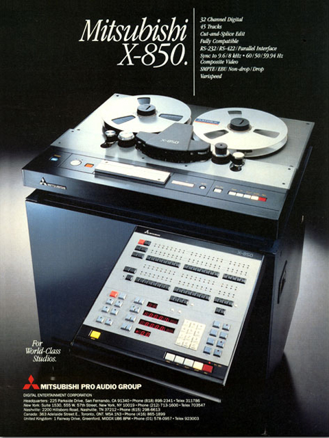 Mitsubishi and Otari collaborated on the design of the X-850.  This is an ad in the Reel2ReelTexas.com vintage recording collection