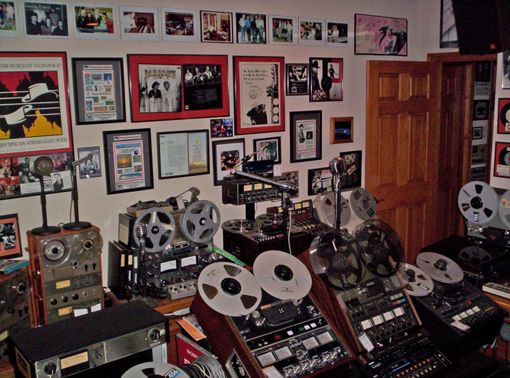 Museum of MAgnetic Sound Recording Teac, Ampex, Dokorder, Crown RCA and ReVox reel to reel tape recorders.