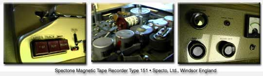 United Kingdon Spectone reel to reel tape recorder in the Reel2ReelTexas.com vintage reel tape recorder recording collection