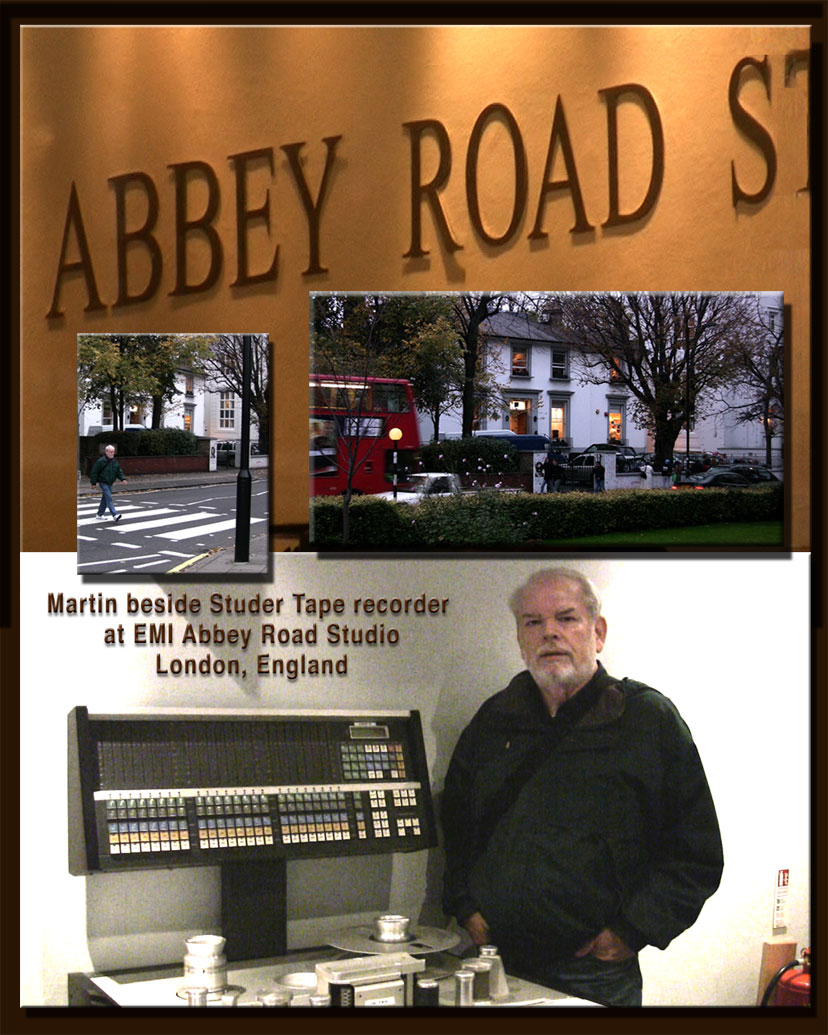 Martin beside Studer at Abbey Road Studios London, England