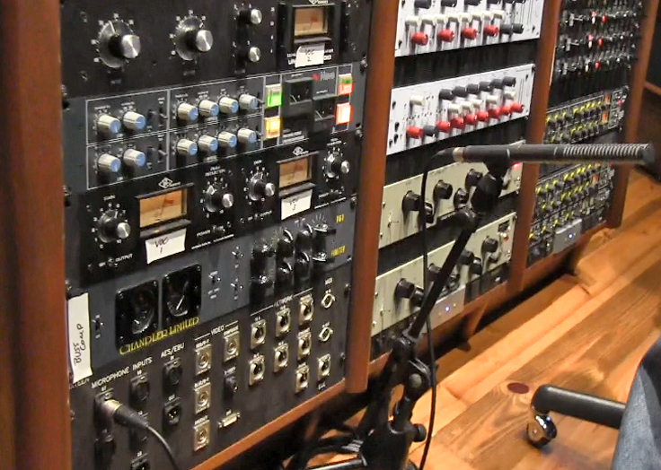 Blue Rock Studio's Neve out board equipment  photo in the Reel2ReelTexas.com vintage reel tape recorder recording collection