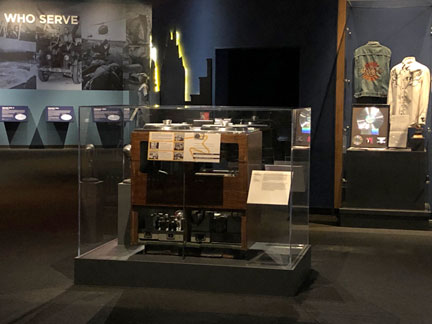 MOMSR Ampex 200A on display at the Bob Bullock Texas State History Museum