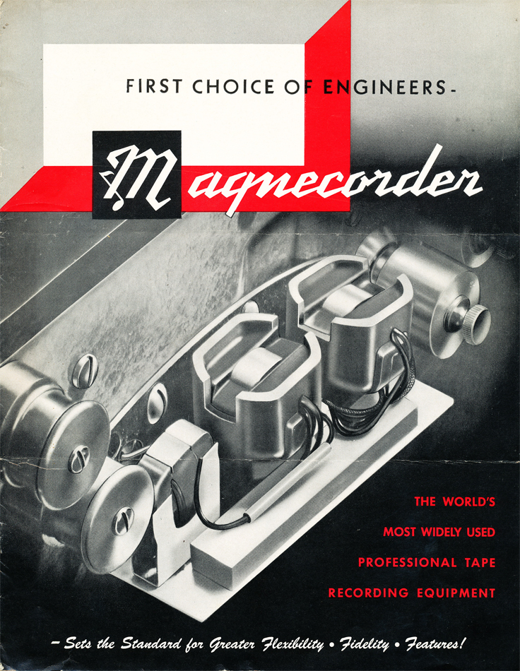 1951 Magnecord reel tape recorder brochure in the Reel2ReelTexas vintage recording collection