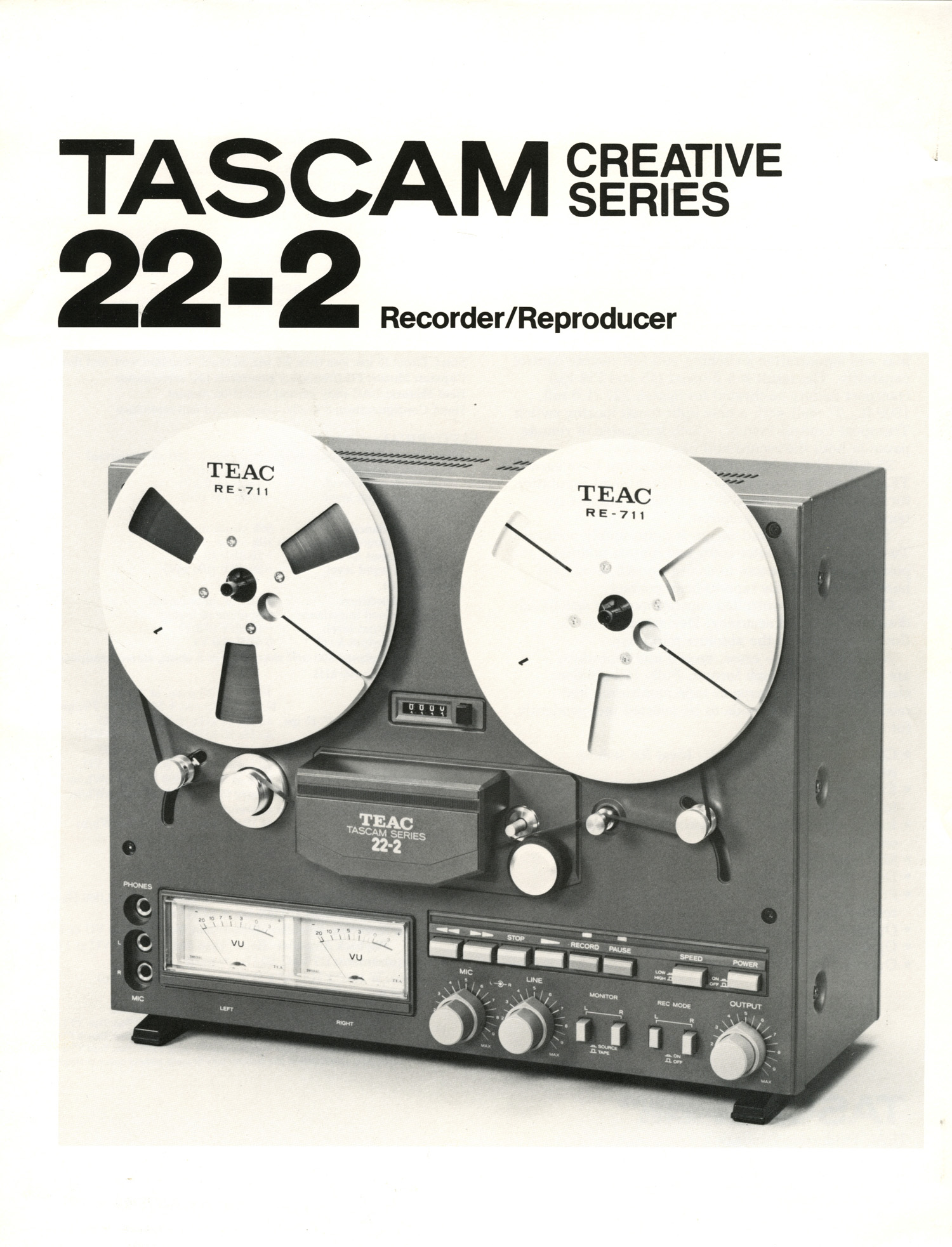 1991 ad for the Teac Tascam 22-2  2 track professional reel to reel tape recorder in the Reel2ReelTexas.com vintage recording collection Museum