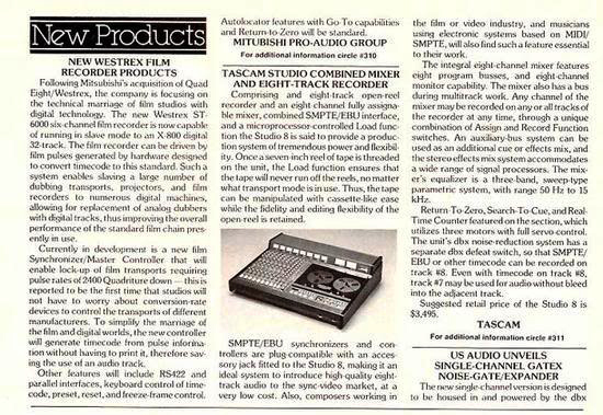 Review of the Teac Tascam 388 mixer and professionalreel to reel tape recorder in the Reel2ReelTexas.com vintage recording collection