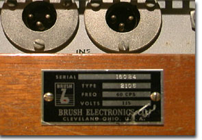19Brush Electronics Company's professional model 2105 reel to reel tape recorder in the Reel2ReelTexas.com vintage recording collection