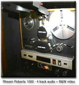 Roberts 1000 reel to reel with black and white video capability
