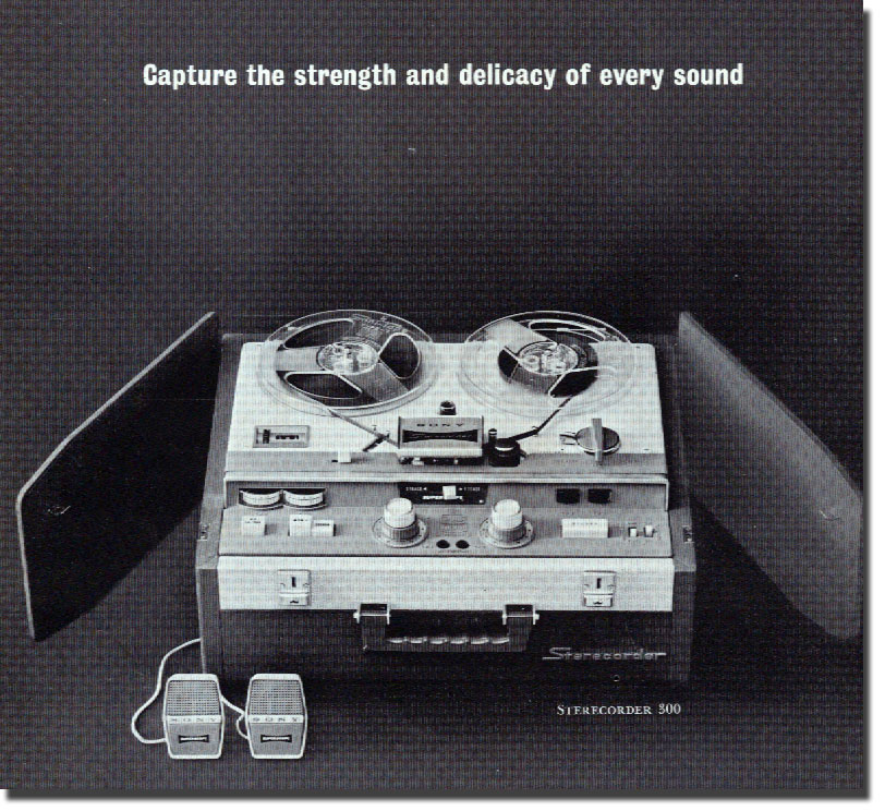 Sony Sterecorder 300 in 1961 Sony catalog in   Phantom Productions images/R2R/vintage reel tape recorder collection