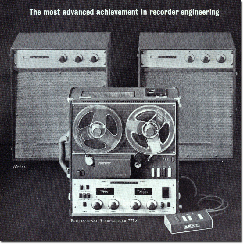 Sony Sterecorder 777 in 1961 Sony catalog in   Phantom Productions images/R2R/vintage reel tape recorder collection