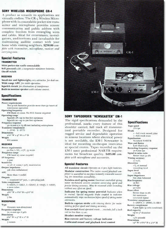 picture Sony EM-1 in 1961 Sony catalog
