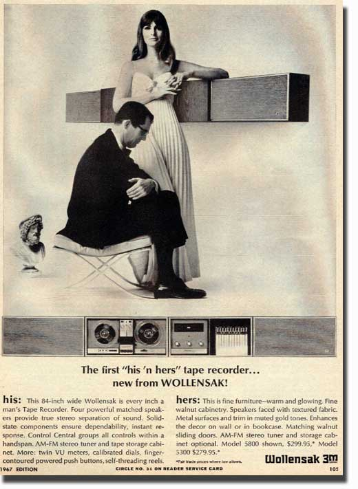 1966 Wollensak ad in the Reel2ReelTexas.com vintage reel tape recorder recording collection