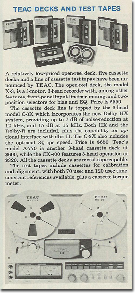 a for the Teac X-3