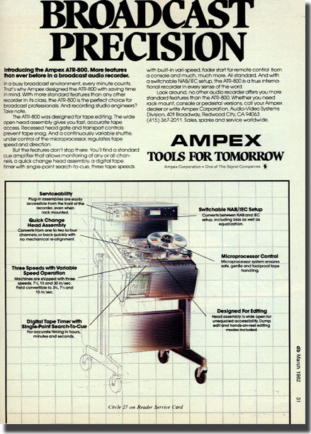 Ampex ATR800 professional reel to reel tape recording built by Teac to Ampex specifications in the Reel2ReelTexas.com vintage recording collection