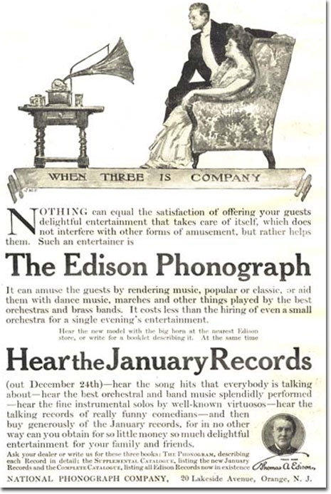 Edison ad in the Reel2ReelTexas.com vintage recording collection