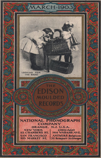 1903 Edison cylinder recording ad in the Reel2ReelTexas.com vintage recording collection