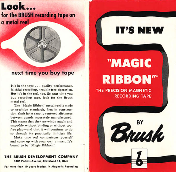 Brush Development Company adin the Reel2ReelTexas.com vintage reel tape recorder recording collection