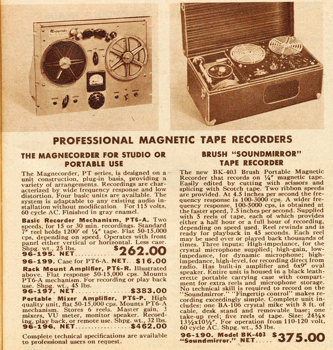 Brush Development Company adin the Reel2ReelTexas.com vintage recording collection