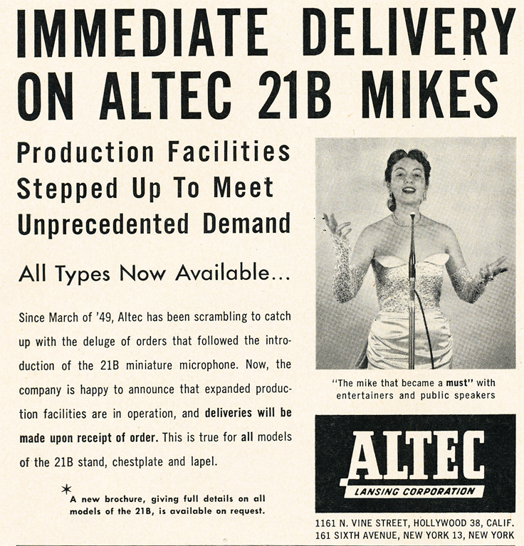 Altec ad in the Reel2ReelTexas/MOMSR/Theophilus vintage reel tape recorder and mic collection