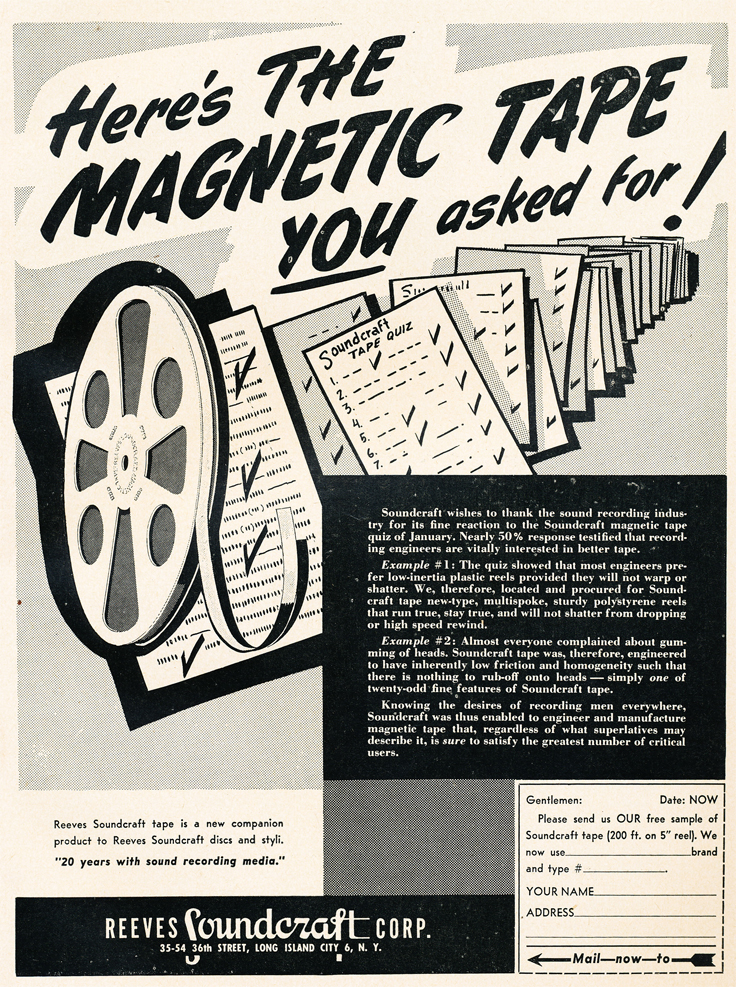 1952 Soundcraft ad  in the Reel2ReelTexas.com vintage reel tape recorder recording collection