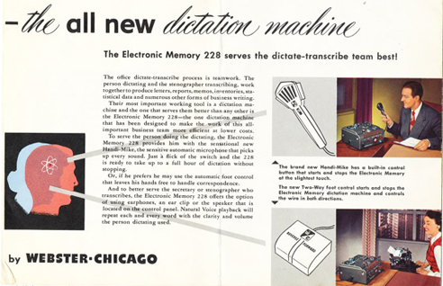 Webster Chicago 288 brochure in Reel2ReelTexas.com's vintage recording collection