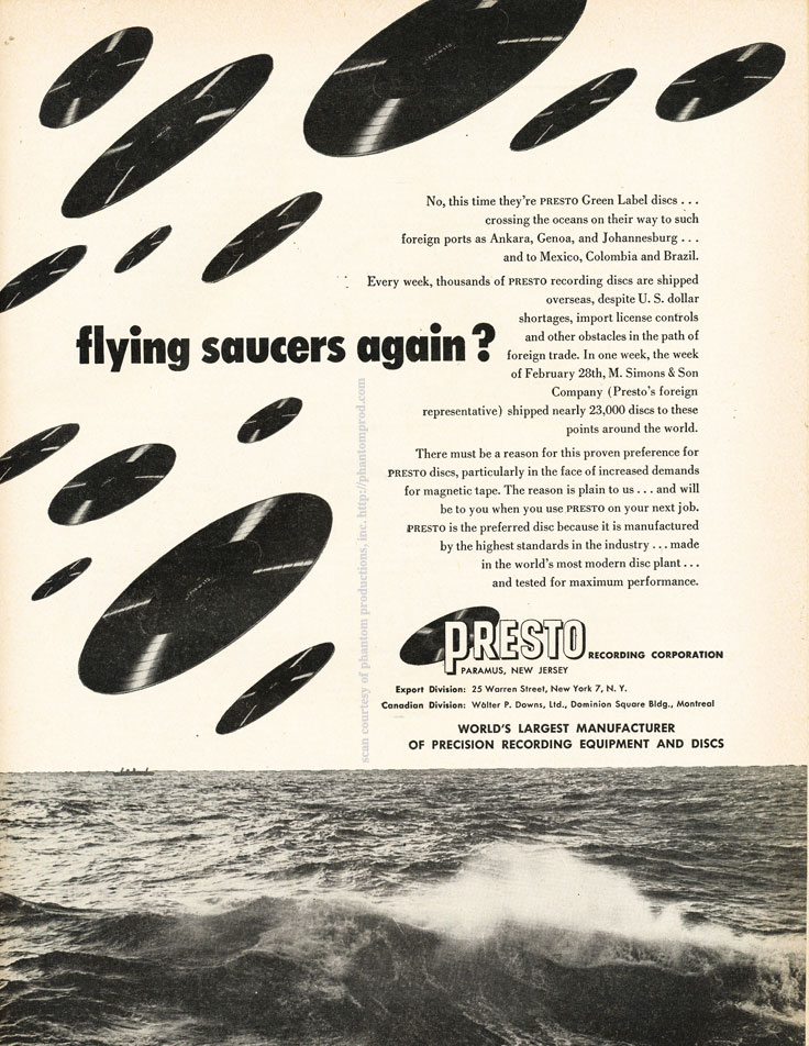 Presto ads from 1952 in the Reel2ReelTexas.com vintage recording collection