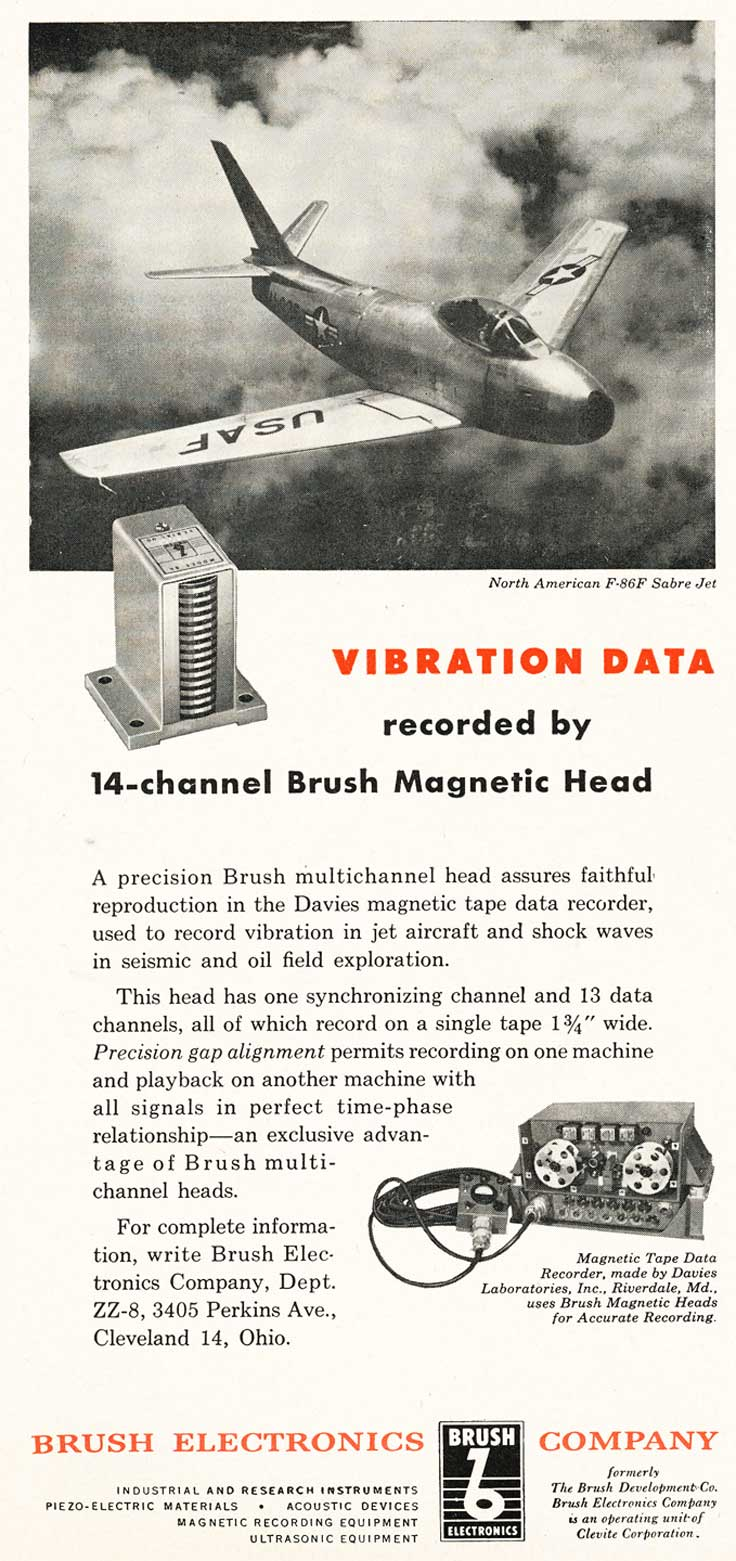 1953 Brush 14 channel magnetic head for reel tape recorders in the Reel2ReelTexas.com vintage recording colection