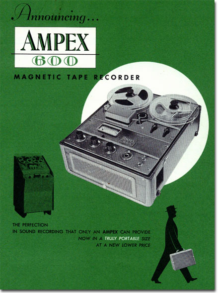 1954 ad for the Ampex 600 reel to reel tape recorder in the Reel2ReelTexas.com vintage recording collection