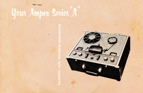 "1954 Ampex Series ""A"" 960 ad in Reel2ReelTexas.com vintage reel tape recorder collection"