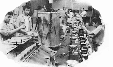 1954 photo of the Berlant factory  in the Reel2ReelTexas.com vintage recording collection