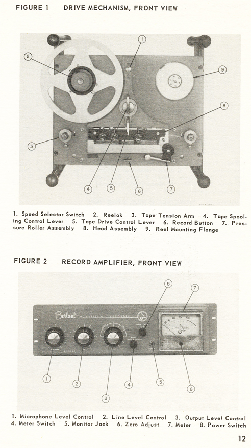 1954 brochure for the Berlant Concertone Series 30  reel to reel tape recorders in the Reel2ReelTexas.com vintage recording collection