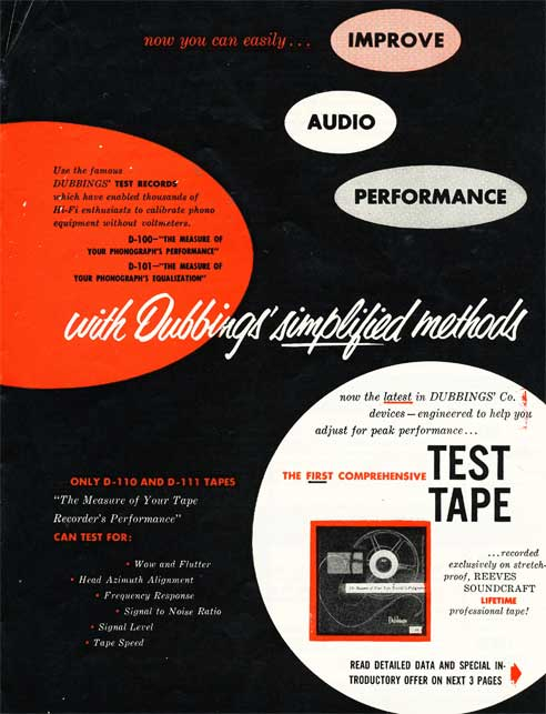 1954 Soundcraft ad  in the Reel2ReelTexas.com vintage reel tape recorder recording collection