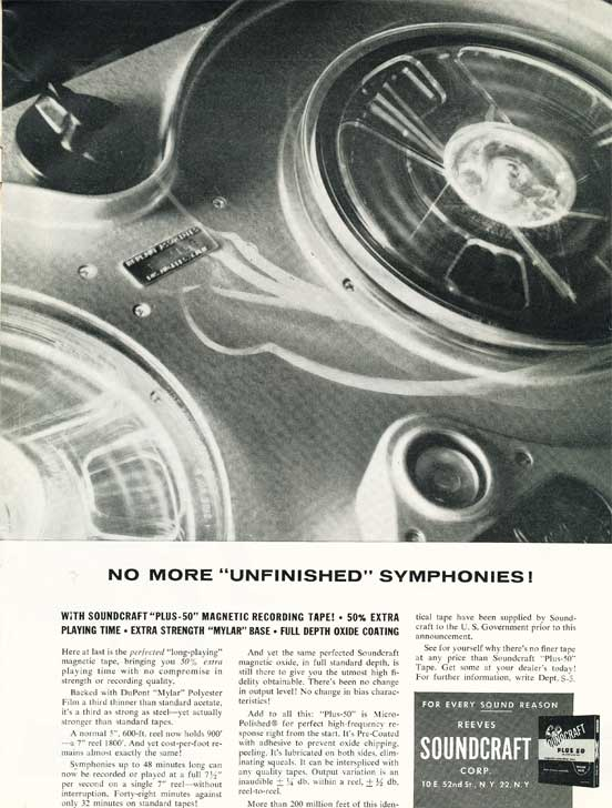 1955 Soundcraft ad  in the Reel2ReelTexas.com vintage reel tape recorder recording collection