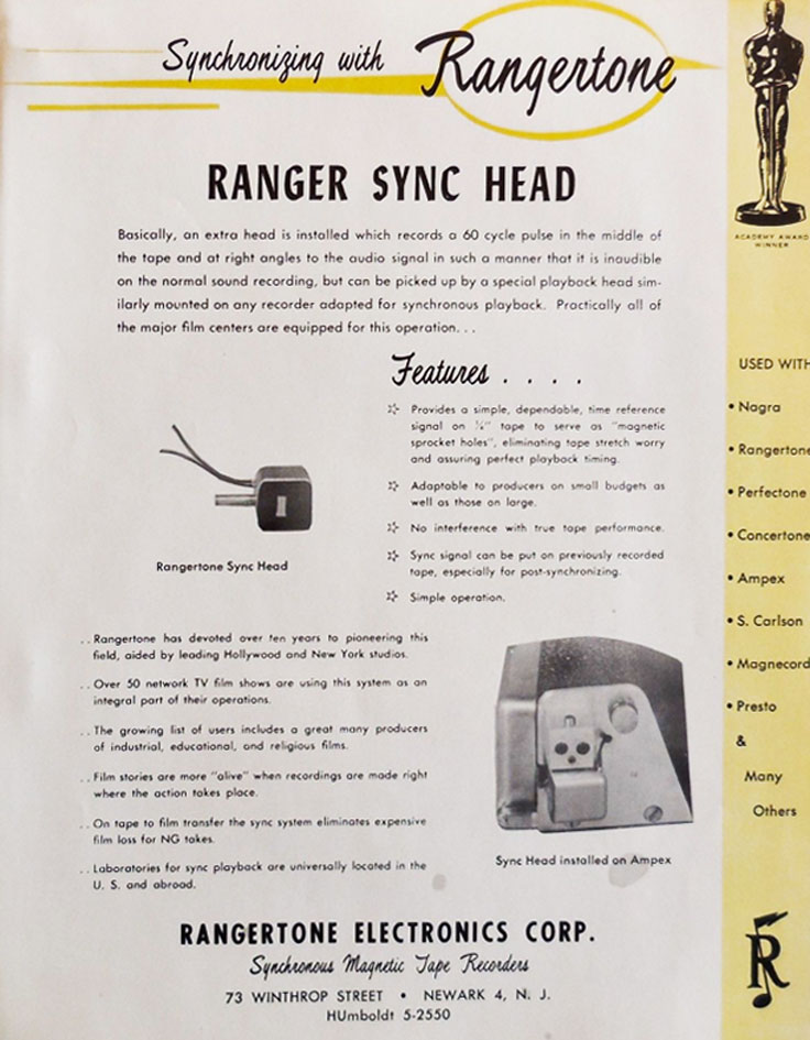 1956 Rangertone brochure of reel tape recorders and other products in the Reel2ReelTexas.com vintage reel tape recorder recording collection