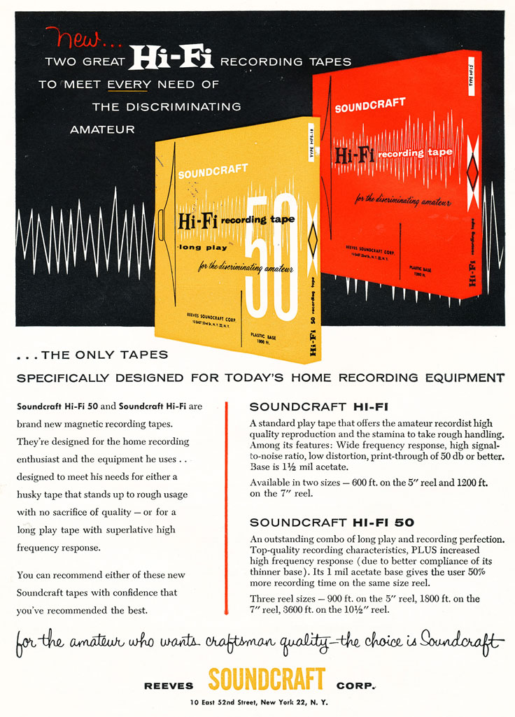 1956 Soundcraft ad  in the Reel2ReelTexas.com vintage reel tape recorder recording collection
