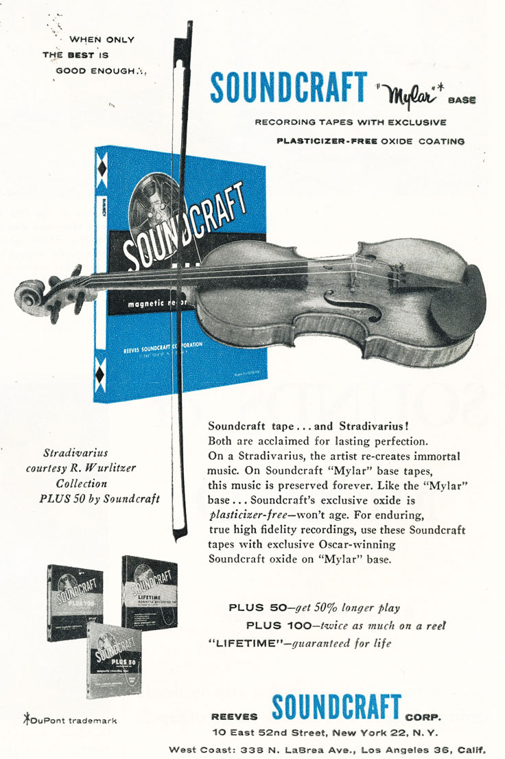 1957 Soundcraft ad  in the Reel2ReelTexas.com vintage reel tape recorder recording collection