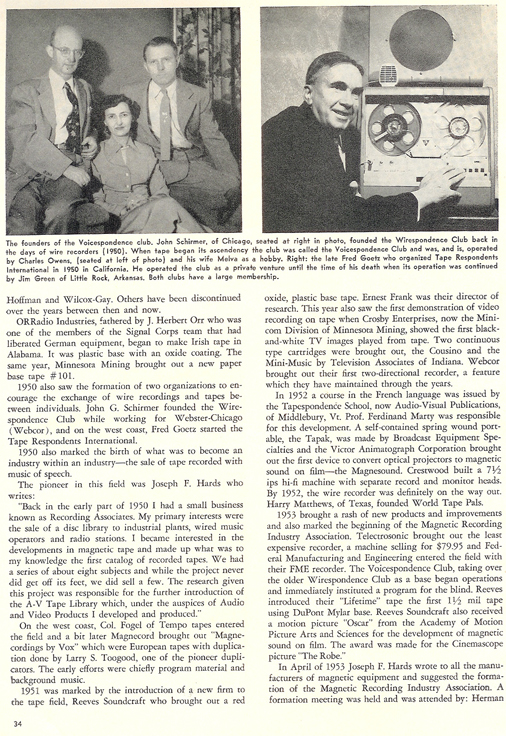 History of reel to reel tape recording up to 1958 page 14